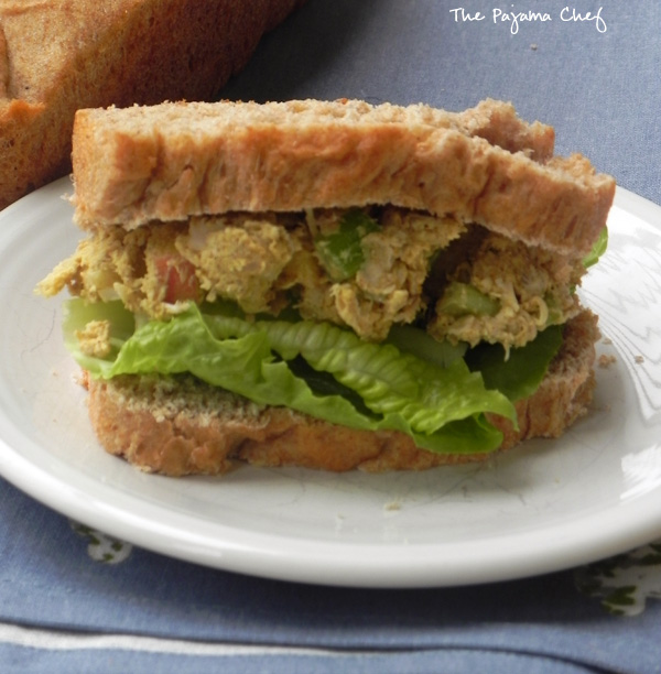 Curried Chicken Salad: a 10 minute lunch on thepajamachef.com