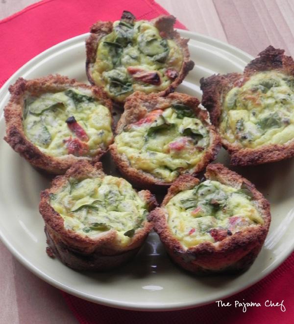 Mini Egg Quiches | thepajamachef.com