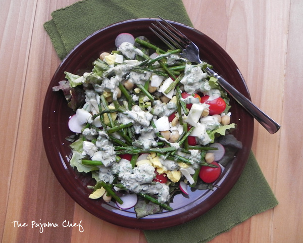Green Goddess Dressing | thepajamachef.com #src #salad