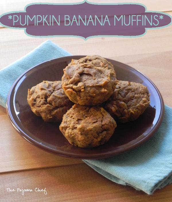 Pumpkin Banana Muffins | thepajamachef.com
