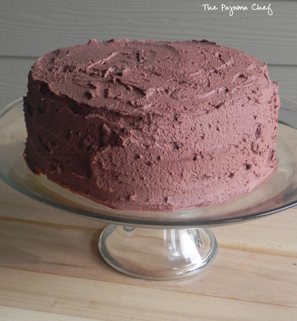 Yellow Cake Whipped Chocolate Frosting
