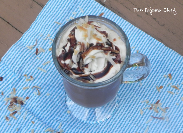 Iced Coconut Mocha from thepajamachef.com #secretrecipeclub