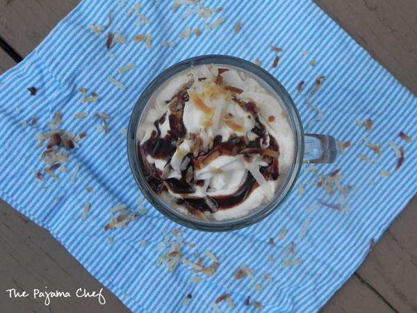 Iced Coconut Mocha from thepajamachef.com #secretrecipeclub