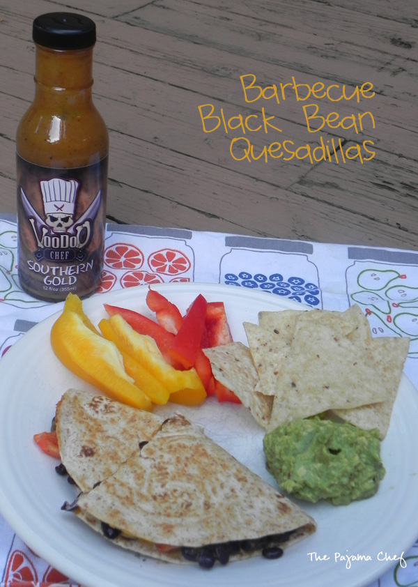 Barbecue Black Bean Quesadillas for #HotSummerEats | thepajamachef.com