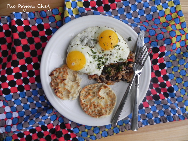 Costa Rican Rice and Beans with Fried Eggs | thepajamachef.com