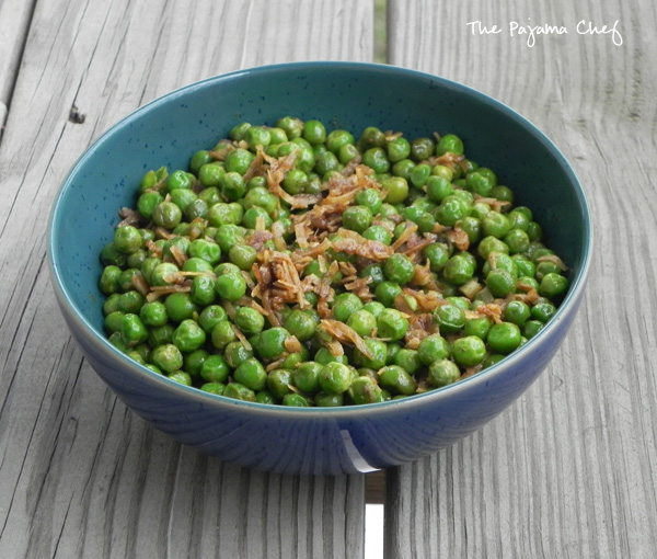 Indian Spiced Peas | thepajamachef.com
