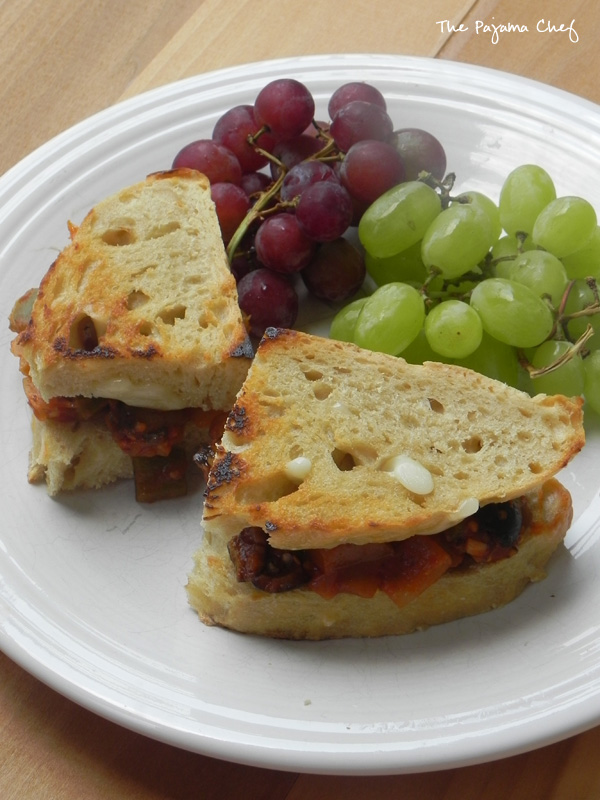 Eggplant Caponata Sandwiches | thepajamachef.com #summer #meatless #recipe