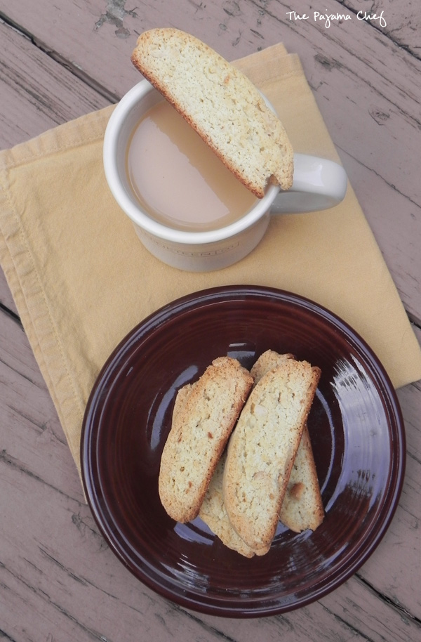 Cantucci - sweet and nutty almond biscotti on thepajamachef.com #src #recipe #secretrecipeclub