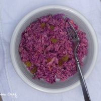 Red Cabbage, Raisin, and Apple Slaw