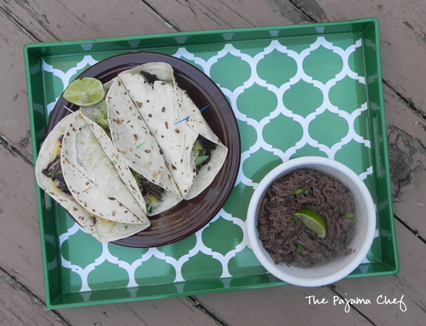 Crockpot Barbacoa - an easy way to fancy up your next taco night! Find the recipe on thepajamachef.com #secretrecipeclub #src