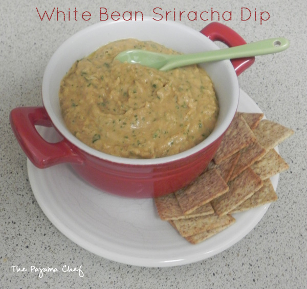 White Bean Sriracha Dip | thepajamachef.com