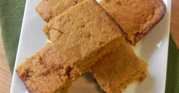 Pumpkin Cornbread - delicious, lightly spiced cornbread that is perfect with any hearty soup or bbq!