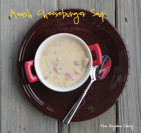 Amish Cheeseburger Soup on thepajamachef.com