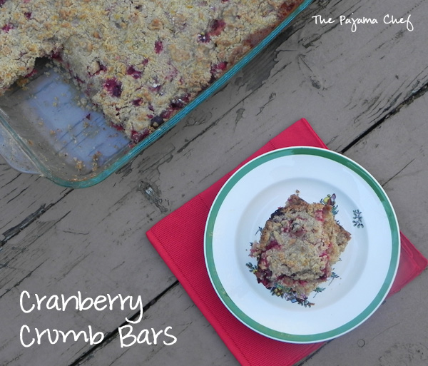 Tart, sweet cranberry crumb bars... they are amazingly delicious.