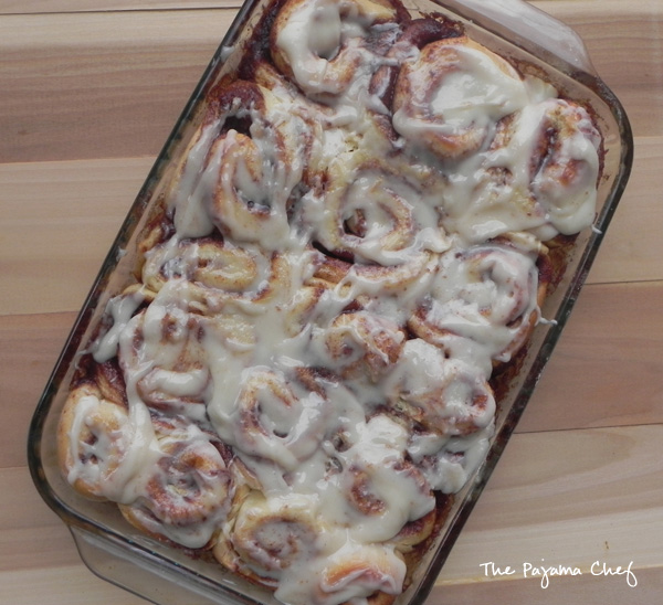Tender, soft, and sweet cinnamon rolls... these basically taste like the famous mall food court treat of my childhood, but they are homemade and actually, pretty easy! #bookclubcookbookCC