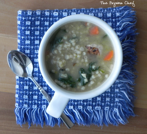 Italian Wedding Soup | thepajamachef.com