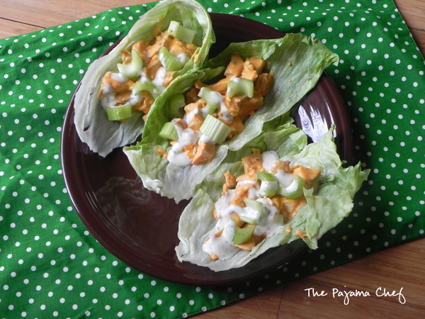 Fancy up your buffalo chicken by serving it in some cool, crisp lettuce wraps! This is the perfect game day appetizer or light dinner option. Mmmm! #secretrecipeclub