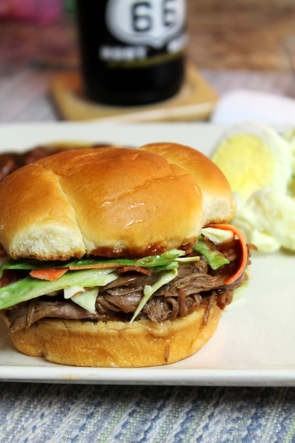 Slow Cooker Shredded BBQ Brisket -  Weekly Menu Plan - great eats, all week long brought to you by some of your favorite bloggers like thepajamachef.com!
