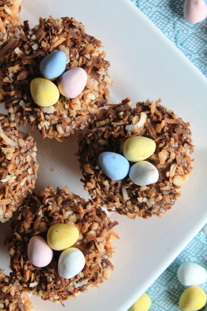 Toasted Coconut Bird's Nest Krispies Treats