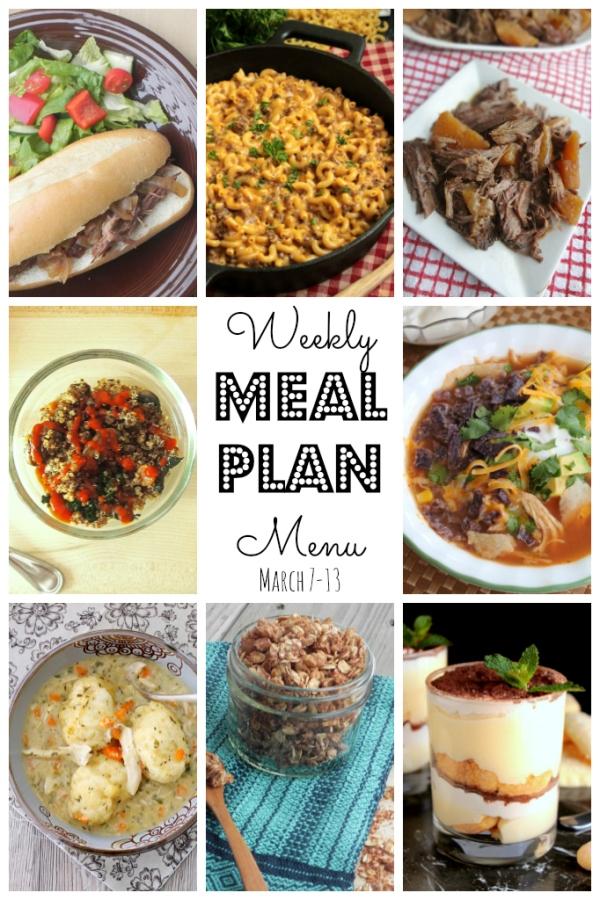 Weekly Menu Plan - lots of wonderful family friendly recipes to make your week easier! via thepajamachef.com :) #menuplan #mealplan #recipes #homemade