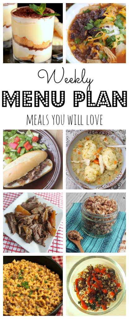 Weekly Menu Plan - lots of wonderful family friendly recipes to make your week easier! via thepajamachef.com :) #menuplan #mealplan #recipes #homemade