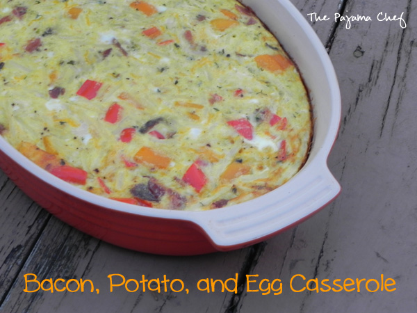 Bacon, Potato, and Egg Casserole - a delicious, hearty breakfast that is sure to please!