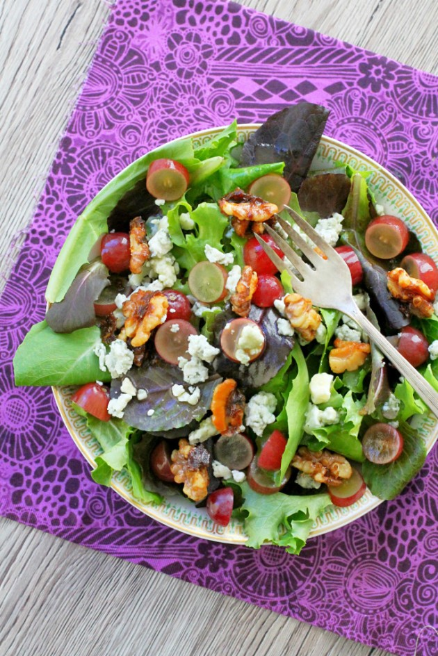 Sugared Walnut Grape Salad - Foodtastic Mom