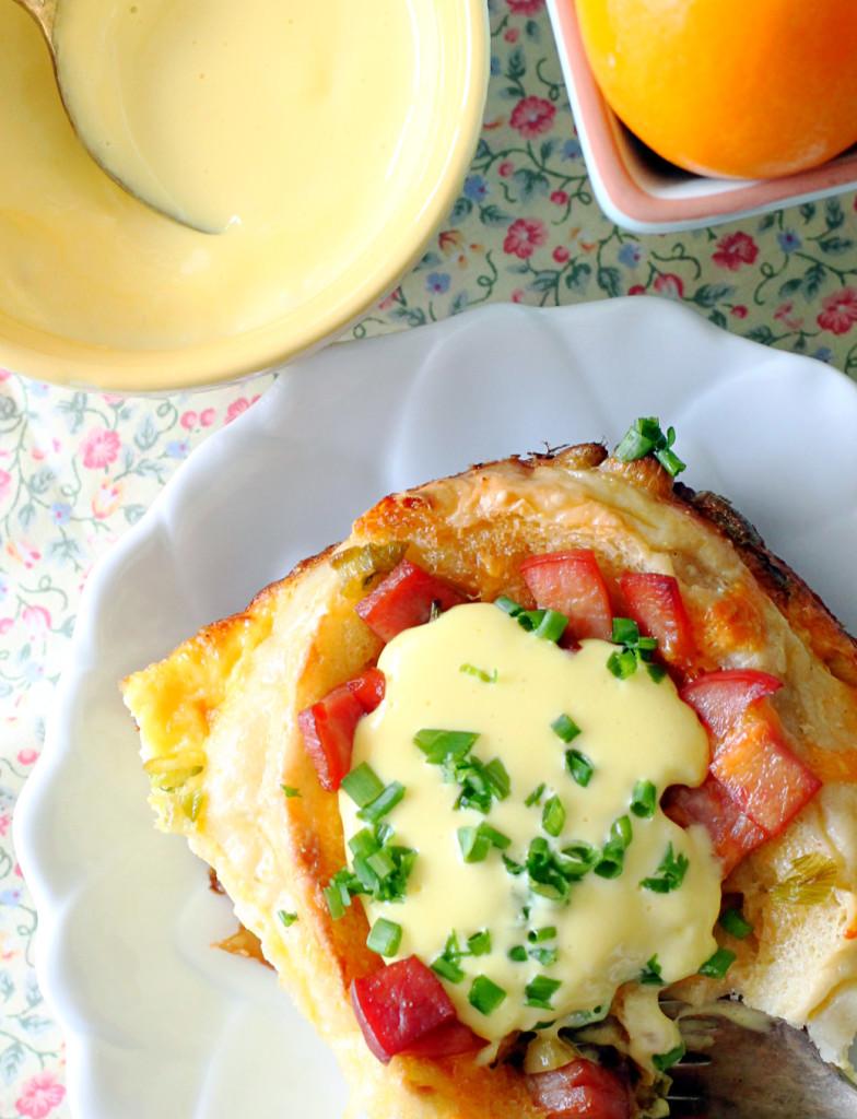 Eggs Benedict Breakfast Bake - Foodtastic Mom