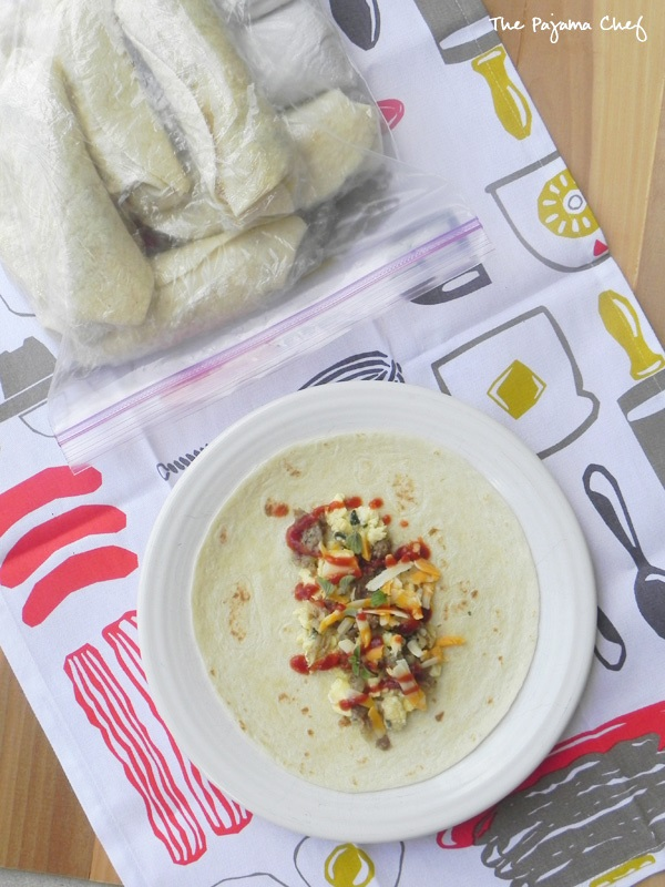 Freezer Breakfast Burritos - The Pajama Chef