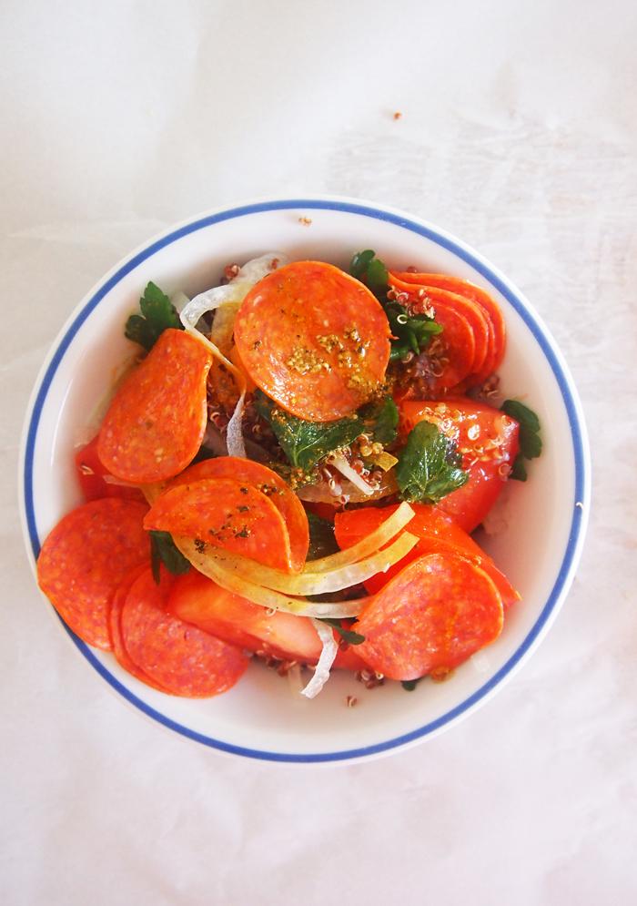 Hormel Pepperoni Quinoa Salad