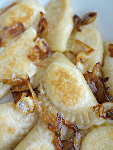 Homemade Cheddar Pierogi {with Caramelized Onions} - The Cooking Actress