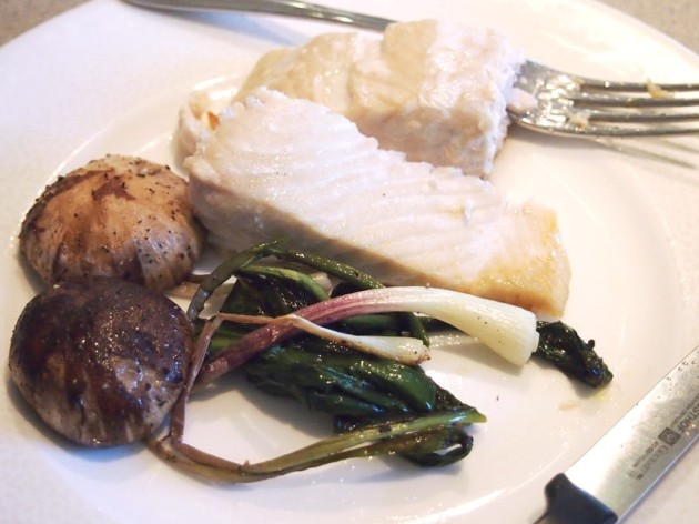 Roasted Ramps and Mushrooms with Salmon - Pies and Plots
