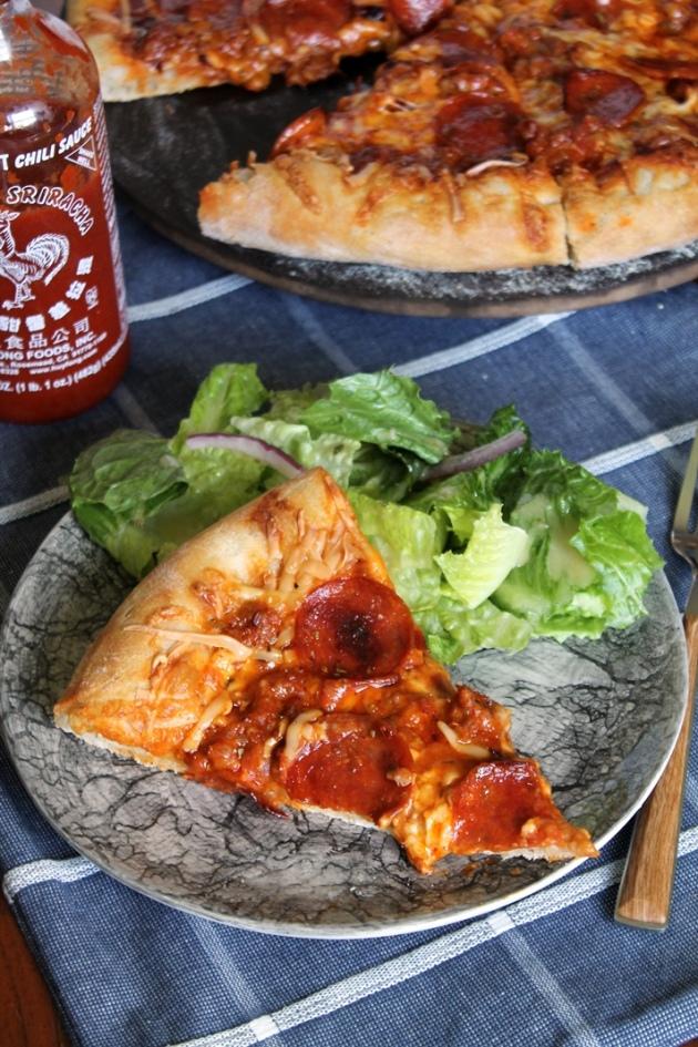 Sriracha Jack Pizza
