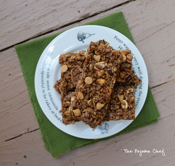 No Bake Chocolate Peanut Butter Granola Bars3