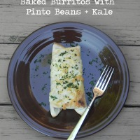 Baked Burritos with Pinto Beans + Kale