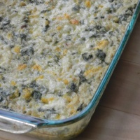 Kale and Brown Rice Gratin