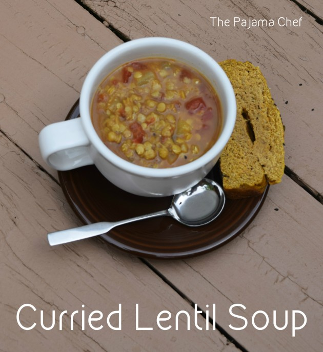 Easy and flavorful red lentil soup...this curried red lentil soup is ...