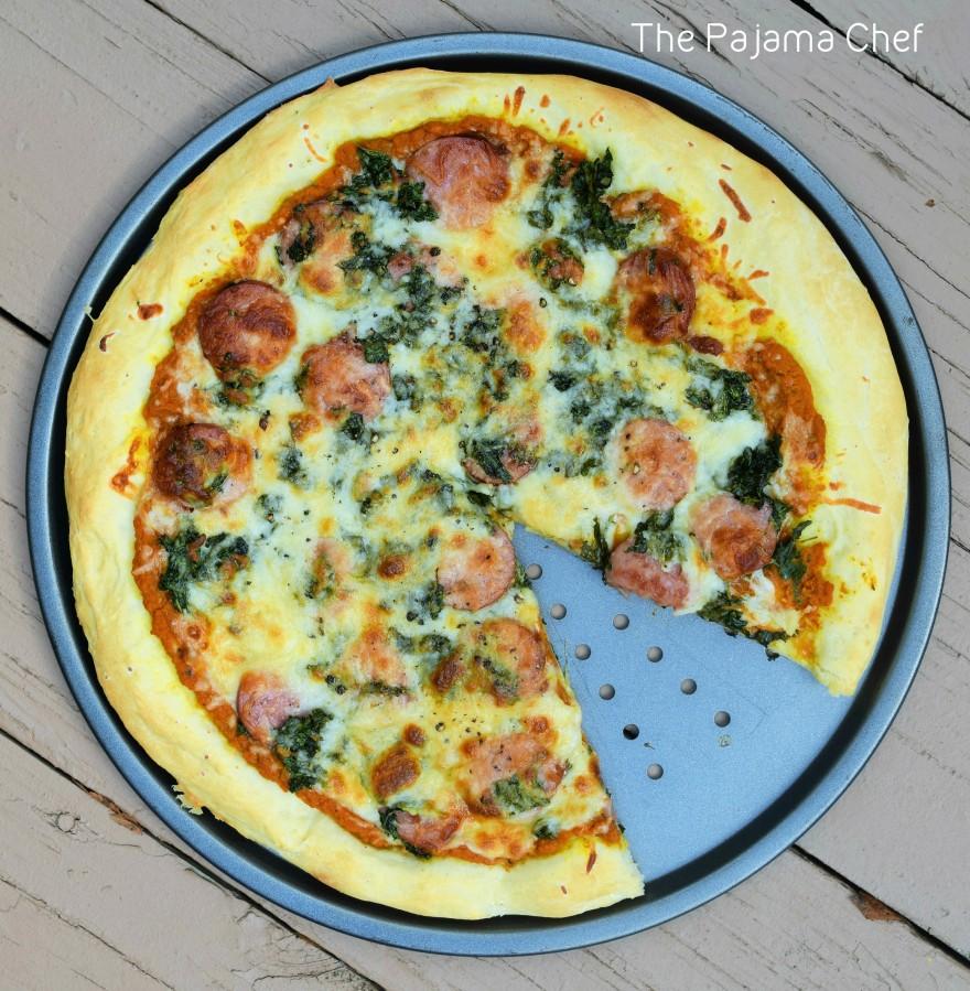 Pizza gets an autumn twist with pumpkin sauce! Mmmm mmm good! #secretrecipeclub