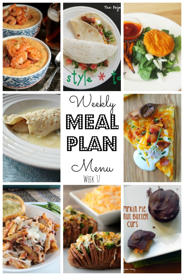 Weekly Meal Plan - lots of great eats for the week ahead via thepajamachef.com and other great bloggers!