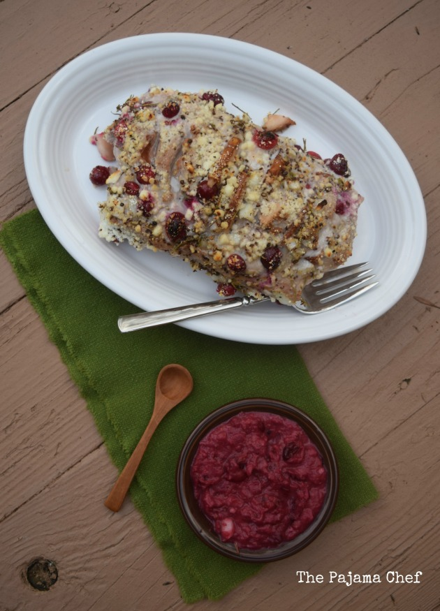 Looking for a show-stopping dish for New Year's? This Hassleback Pork Tenderloin Stuffed with Cranberries, Pears, and Goat Cheese is sure to impress... and it tastes even better!
