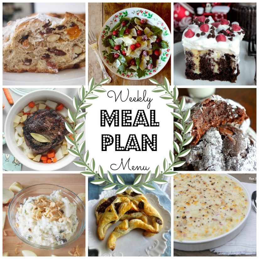 Christmas Menu Plan - lots of great ideas for the perfect holiday dinner!