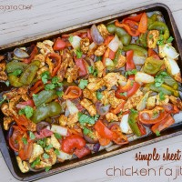 Simple Sheet Pan Chicken Fajitas