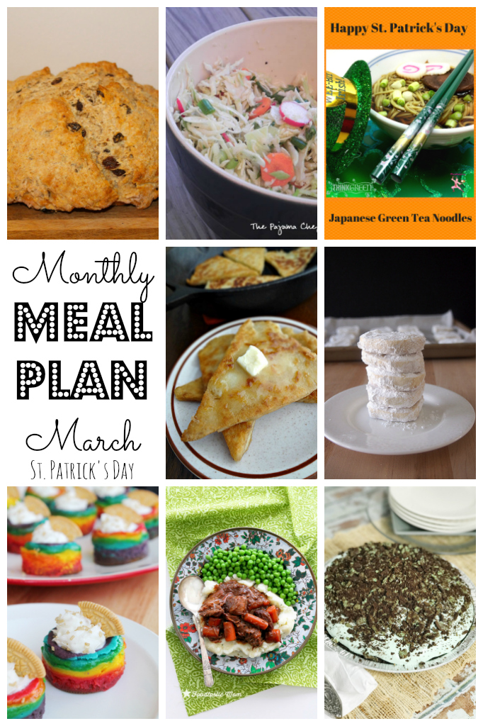 Check out this St. Patrick's Day-themed meal plan and celebrate with us! :)