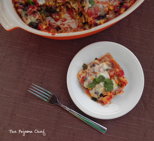 Mexican Lasagna... this epic (vegetarian) meal is weeknight-friendly, pantry-friendly, and oh so tasty! I definitely need to make this dish more often. Enjoy!