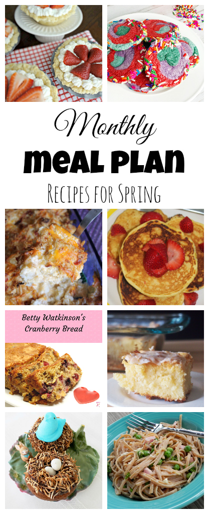 Check out this spring-themed meal plan and celebrate with us! :)