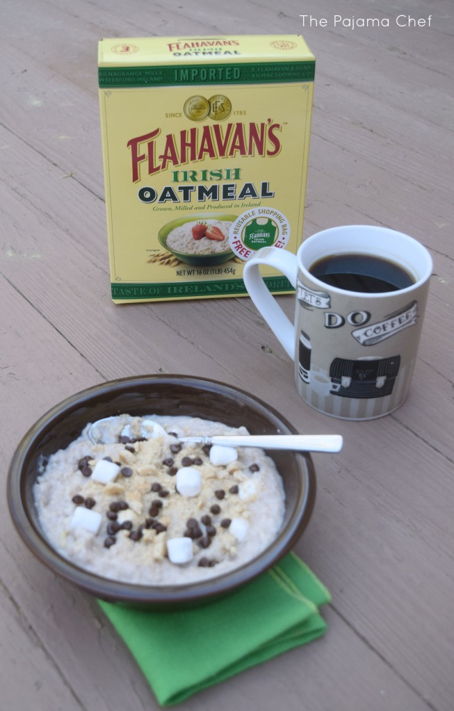 Creamy oats topped with your favorite campfire dessert... S'mores! What could be a better way to wake up?