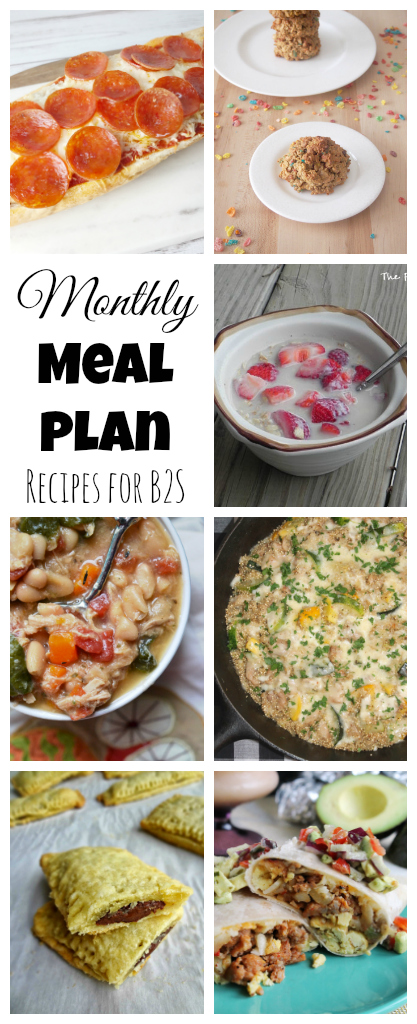 Back to School Meals for August