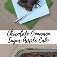 Chocolate Cinnamon Sugar Apple Cake #Choctoberfest