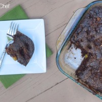 Chocolate Cinnamon Sugar Apple Cake #Choctoberfest