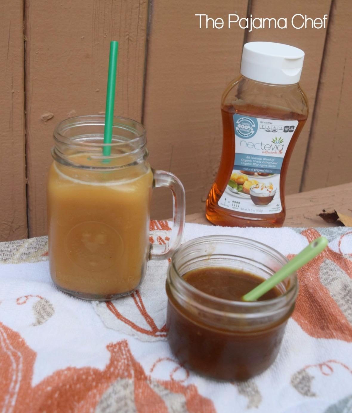Pumpkin Spice Coffee Syrup + Cold Brew Coffee Method #steviva #sweetandeasy | thepajamachef.com